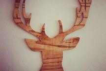 reindeer laser cut