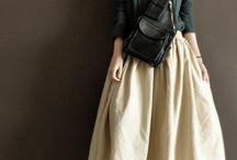 Loose pants, skirt-n-dress