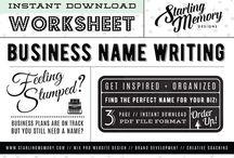 STARLING MEMORY // BRAND DEVELOPMENT WORKSHEETS / DIY Creative Coaching //  Brand Development Worksheets by Starling Memory Designs