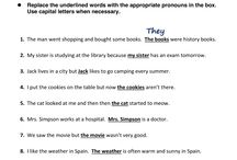 Worksheet Pronoun