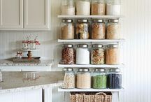 Home Organization / Concur clutter!  Everything has it's place.  Organize and put away all the stuff.  Organization ideas using mason jars & larger jars.