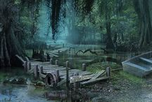 ☁Env. Design: Swamps / Swamps ref for concept art.