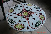 Mosaic Table & Sidewalk Ideas / by Annette Esquivel