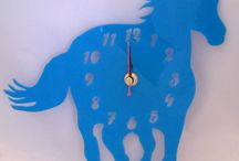 choices of clock - acrylic and wood / possible clocks for post decorating - not sure which one yet though