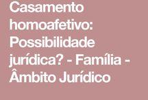 CASAMENTO HOMOAFETIVO:POSSIBILIDADE JURIDICA