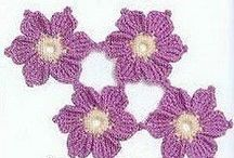 Crochet flowers, animals
