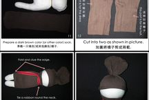 Good sock doll tutorial.