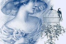 imagini albastru vintage