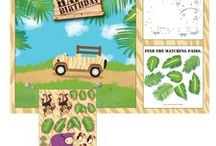 Safari Adventure Birthday Party Ideas / We have some great Safari Adventure Birthday Party Ideas! We have added some of our own favorite Safari Party Supplies, and hunted through Pinterest boards for some great Safari Party Ideas. Throw the cutest safari animal theme party ever!