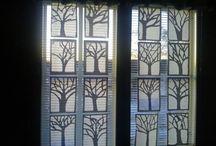 träd i fönstret