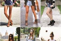 shorts e botas