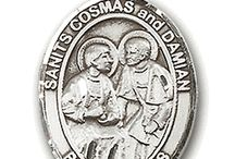 Patron Saint Medals / We carry many different patron saint medals at The Catholic Gift Shop. Most can be engraved and come in sterling silver or gold over sterling silver. These make a great gift for any Catholic occasion.