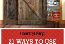 Barndoor Inspiration / Inspiration for projects and designs for barndoors in any home!