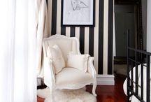 Blk & white interiors