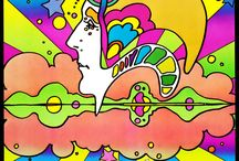 {art} Peter Max & His Heirs / A celebration of colorful, 60's-style art, and of course of Peter Max! (See also {art} Pop Art for more work from this era, as well as {music} The Beatles.) [1960's era, flower children, psychedelic]
