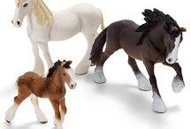 My Schleigh horse miniatures