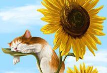 Kissat ja kukat