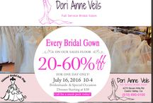 National Bridal Sale / 20 to 60% off all bridal gowns on our sales floor