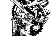 Ilustrações e Bikes