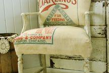 Grain Sacks, Feed Sacks, and DIY Drop Cloths