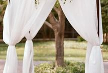 wedding rustic alter