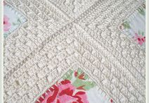 Fusion Quilts / Quilts made with a combination of fabric and crochet