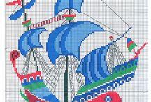 kanaviçe gemiler