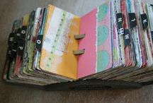 Altered rolodex cards