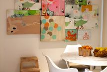 Colorful Wall Art / Decorating wall with bright and vibrant art and prints.