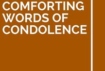 Conforting words of condolence