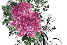 kwiaty decoupage