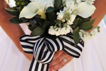 Preppy, polka dots, chevrons & stripes. / floral and accessory inspiration for preppy style weddings with casual elegance
