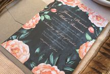 Designer Collection by Nicole Hamilton Invitations and Stationery / Gorgeous pre-designed invitations ready to be customised for your next event. Ships from Brisbane Australia. DM for a quote @nicolehamilton2