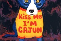 """Blue Dog - G. Rodrigue / """"When I paint the Blue Dog, I think about everything besides the Blue Dog."""" - George Rodrigue"""