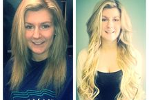 In Salon Before and After Pictures / mermaidhairextensions@hotmail.com Instagram: @mermaid_hairextensions