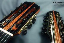 Headstocks dos instrumentos J M Santos