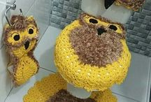 jogo de tapete coruja croche