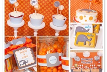 Orange & Gray Elephants