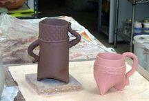 Clay cylinder/mugs