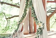 "Ceremony Backdrops / Ideas for what it should like when we say ""I do."""