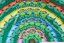 вязание. ковры