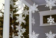 karácsonyi papír hópehely