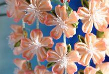Kanzashi fleurs japonaises en tissu