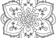 Mandalas and Colouring pages