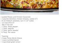 baked potato and chicken casserole