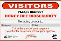 Beekeeping Signs / Schilder rund um Bienen und Imker
