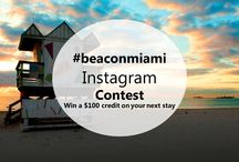 Instagram Contest during the month of June / Win 1 of 4 $100 credit coupons valid to use on your next stay. Follow @beaconmiami on Instagram, Upload and tag your best summer picture using hashtag #beaconsobe For more info go to blog.beaconsouthb... #contest #beaconmiami
