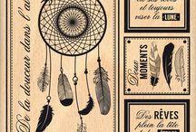 cartes attrape rêves /dream catcher / cartes homemade