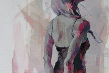 ink & wash / Ink wash drawings on paper