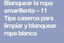 Blanquear ropa